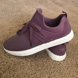 Satin purple sneakers